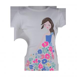 Детская белая футболка с принтом