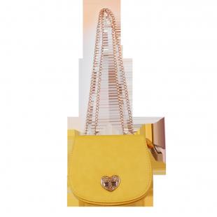 Сумка жёлтого цвета со стразами