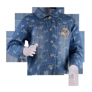 Джинсовая куртка с бантиками