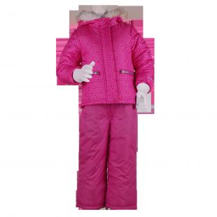 OshKosh. Зимний костюм для девочки малинового цвета