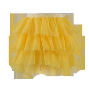 Лимонная юбка из фатина
