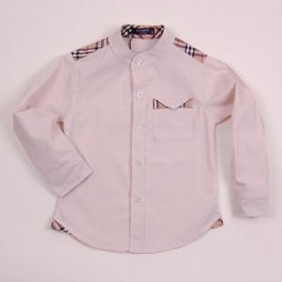 Фото: Рубашка с вставками в клетку (артикул B 30050-beige) - изображение 3