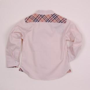 Фото: Рубашка с вставками в клетку (артикул B 30050-beige) - изображение 4