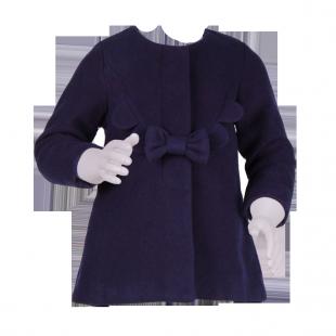 Пальто для девочки с бантиком