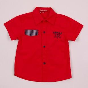 Фото: Рубашка с карманом клетку (артикул Gs 30017-red) - изображение 3