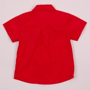 Фото: Рубашка с карманом клетку (артикул Gs 30017-red) - изображение 4