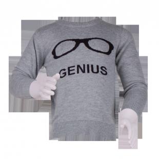 Легкий свитерок с круглым вырезом