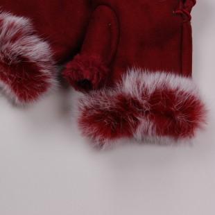 . Ugg. Перчатки бордовые