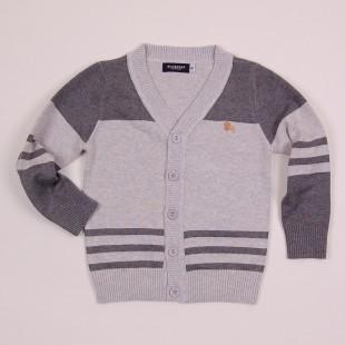 Фото: Классическая кофта для мальчика (артикул B 20016-grey) - изображение 3