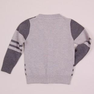 Фото: Классическая кофта для мальчика (артикул B 20016-grey) - изображение 4