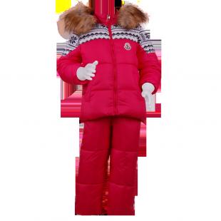 . Качественный зимний костюм розового цвета