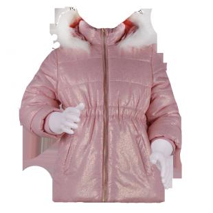 Блестящая демисезонная куртка для девочки