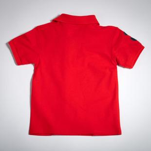 Фото: Детская футболка поло красного цвета (артикул RL 40001-red) - изображение 4