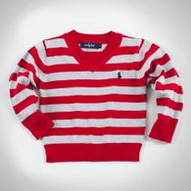 Фото: Свитер в полоску  (артикул RL 20022-red stripe) - изображение 3