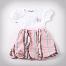 Фото: Платье с юбкой в светло-розовую клетку (артикул B 50034-light pink) - изображение 3