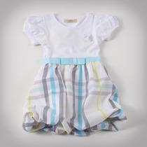 Фото: Детское платье с юбкой в клетку (артикул B 50034-light blue) - изображение 3