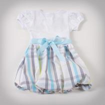 Фото: Детское платье с юбкой в клетку (артикул B 50034-light blue) - изображение 4