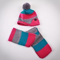 . Набор шапка и шарф в полоску