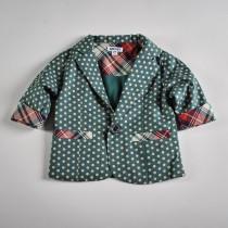 Фото: Стильный пиджак с цветными вставками (артикул O 10052-green) - изображение 3