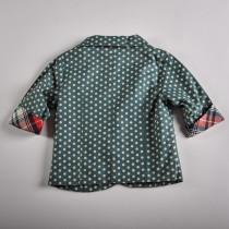 Фото: Стильный пиджак с цветными вставками (артикул O 10052-green) - изображение 4