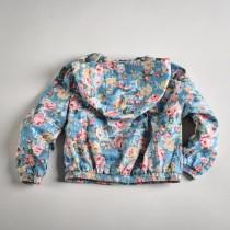 Фото: Куртка с цветочным рисунком (артикул O 10053-blue) - изображение 4