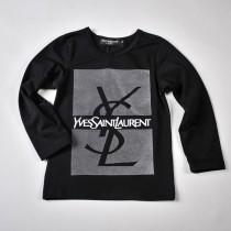 Фото: Yves Saint Laurent*. Кофточка с принтом бренда (артикул O 30055-black) - изображение 3