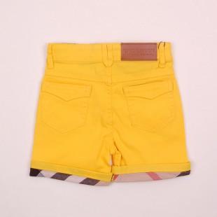 Фото: Желтые шортики с клетчатыми манжетами (артикул B 60011-yellow) - изображение 4