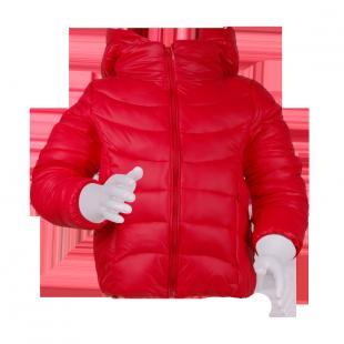 . Стёганая куртка красного цвета