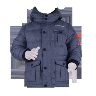 . Куртка для мальчика из темно-синего меланжа