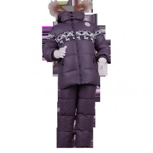 . Утепленный костюм для мальчика с орнаментом