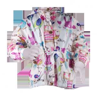. Куртка с ярким принтом