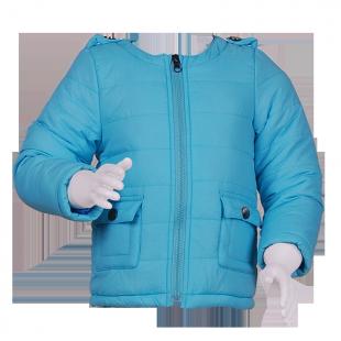 Синтепоновая курточка голубого цвета
