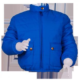 Фото: Укороченная куртка с большими карманами (артикул Z 10006-blue) - изображение 2