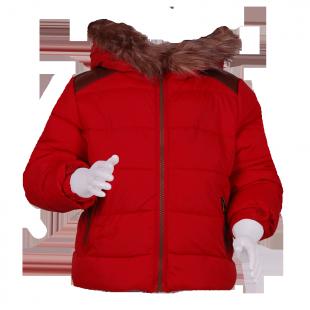 Куртка красная с опушкой