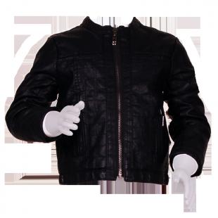 Куртка кожаная стеганная