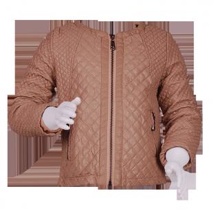 Кожаная стёганная куртка