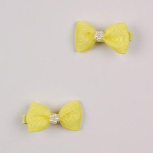 Мини-бантик жёлтого цвета