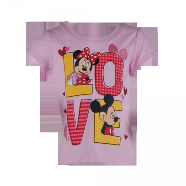 Фото: Футболка Mickey and Minnie Mouse  (артикул O 40115-light pink)