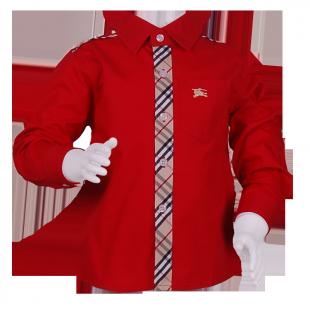 . Рубашка красная  с классическим кантом