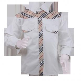 Рубашка с имитацией галстука