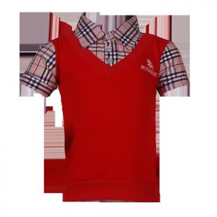 . Рубашка с имитацией жилета
