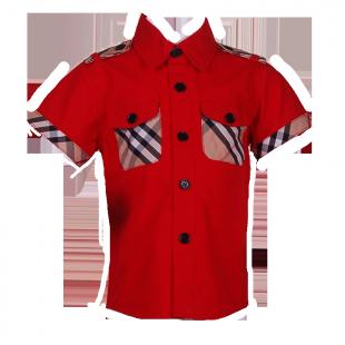 Рубашка с карманами в клетку