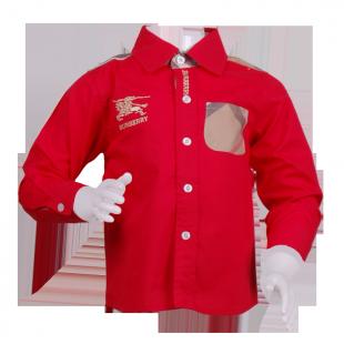 Фото: Яркая рубашка с длинным рукавом (артикул B 30046-red) - изображение 2