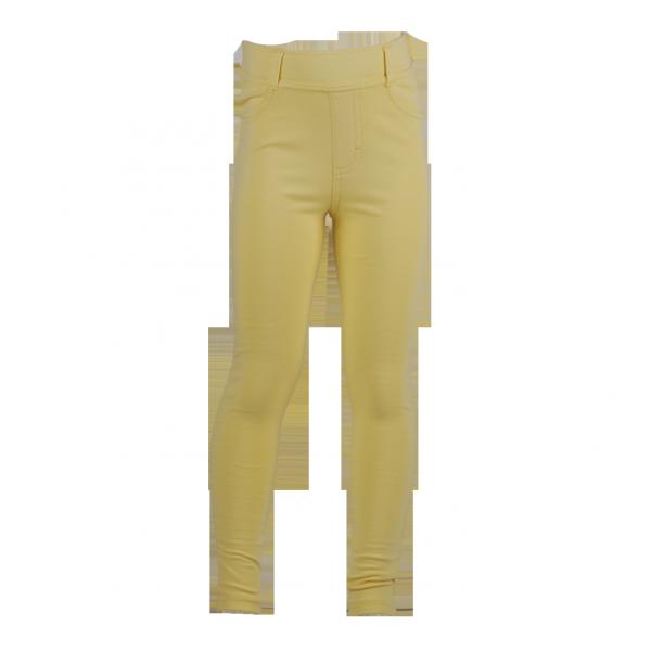 Фото: Леггинсы желтого цвета для девочки (артикул O 60111-yellow)