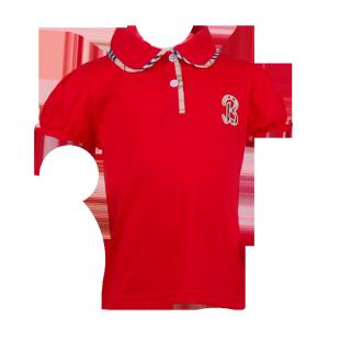 Детская футболка Burberry красного цвета
