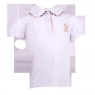 Белая футболка с воротничком Burberry