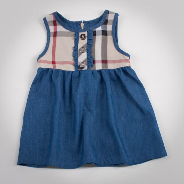 Фото: Платье с джинсовой юбкой (артикул B 50042-jeans beige)