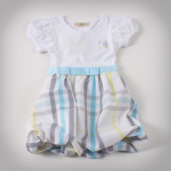 Фото: Детское платье с юбкой в клетку (артикул B 50034-light blue)