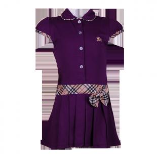 Фото: Платье с классическим кантом и бантом  (артикул B 50007-violet) - изображение 2