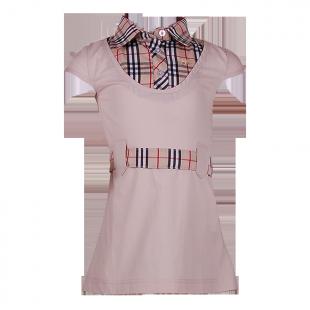 Платье с имитацией рубашки